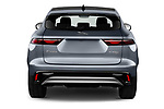 Straight rear view of 2021 Jaguar F-Pace S 5 Door SUV Rear View  stock images