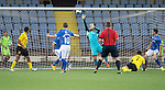 Alashkert FC v St Johnstone...02.07.15   Republican Stadium, Yerevan, Armenia....UEFA Europa League Qualifier.<br /> Mihran Manasyan scores his goal<br /> Picture by Graeme Hart.<br /> Copyright Perthshire Picture Agency<br /> Tel: 01738 623350  Mobile: 07990 594431