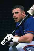 Brad Fullmer of the Toronto Blue Jays during a 2000 season MLB game at Angel Stadium in Anaheim, California. (Larry Goren/Four Seam Images)