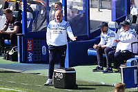 24th April 2021; The Kiyan Prince Foundation Stadium, London, England; English Football League Championship Football, Queen Park Rangers versus Norwich; Queens Park Rangers Manager Mark Warburton shows his frustration on the touch line