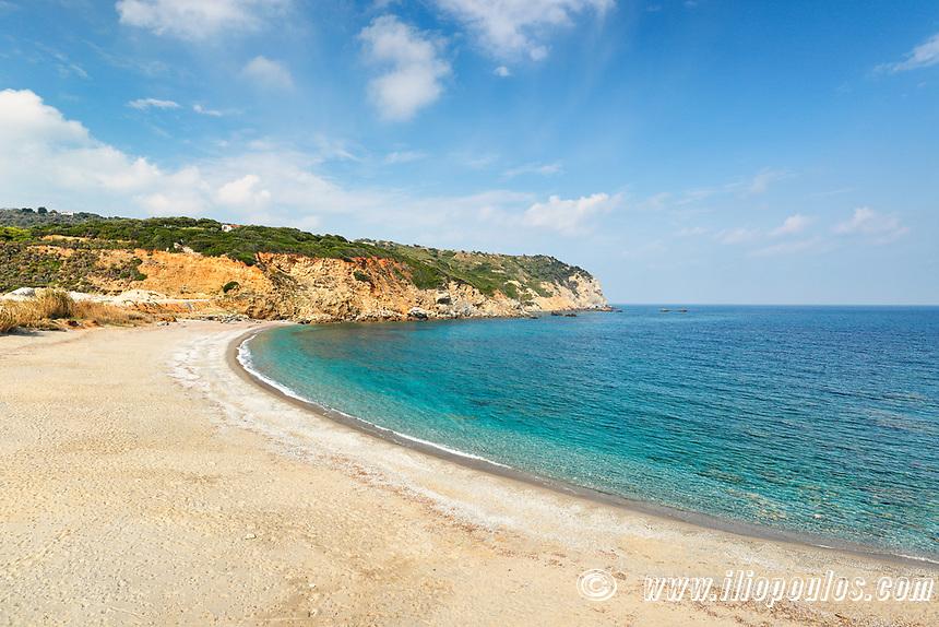 The beach Xanemos of Skiathos island, Greece
