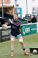 Matt Eliet of London Scottish warms up during the Greene King IPA Championship match between Ealing Trailfinders and London Scottish Football Club at Castle Bar , West Ealing , England  on 19 January 2019. Photo by Carlton Myrie/PRiME Media Images