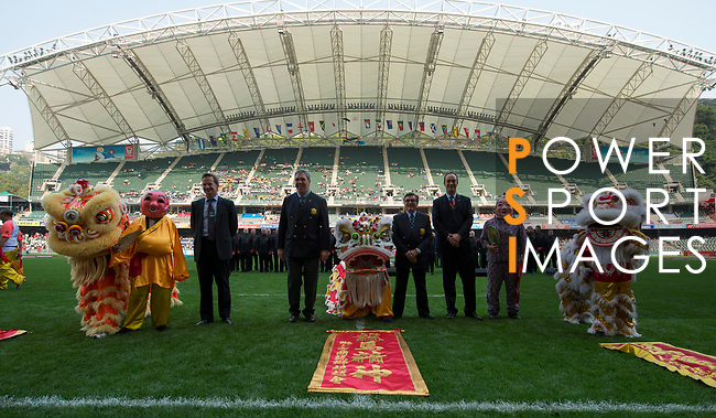 Opening Ceremony on Day 1 of the Cathay Pacific / HSBC Hong Kong Sevens 2013 at Hong Kong Stadium, Hong Kong. Photo by Victor Fraile / The Power of Sport Images