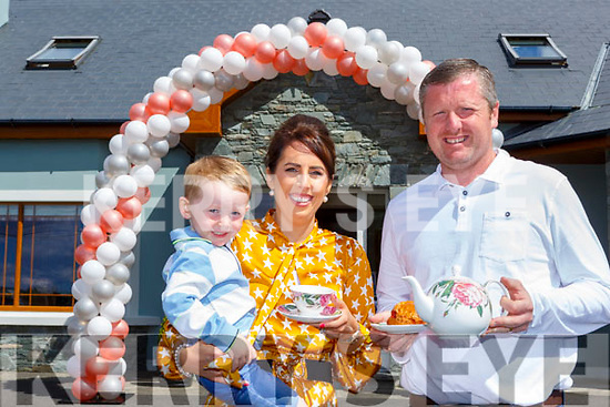 Donal, Donal Jnr and Susan O'Sullivan  enjoying their coffee morning in aid of the Pallative Care Tralee at their house inKilcummin on Monday