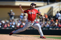 St. Louis Cardinals pitcher Kurt Heyer (94) during a spring training game against the Detroit Tigers on March 3, 2014 at Joker Marchant Stadium in Lakeland, Florida.  Detroit defeated St. Louis 8-5.  (Mike Janes/Four Seam Images)