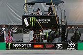 #18: Riley Herbst, Joe Gibbs Racing, Toyota Supra Monster Energy pit box
