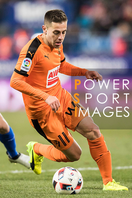 Ruben Pena Jimenez of SD Eibar in action during their Copa del Rey 2016-17 Quarter-final match between Atletico de Madrid and SD Eibar at the Vicente Calderón Stadium on 19 January 2017 in Madrid, Spain. Photo by Diego Gonzalez Souto / Power Sport Images