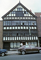 Chester: Bear & Billet, lower Bridge St.  Originally Town House of Earl of Shrewsbury. Dated 1664 but possibly refers to renovation.