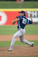 Corpus Christi Hooks pitcher Daniel Minor (21) delivers a pitch to the plate during the Texas League baseball game against the San Antonio Missions on May 10, 2015 at Nelson Wolff Stadium in San Antonio, Texas. The Missions defeated the Hooks 6-5. (Andrew Woolley/Four Seam Images)