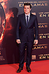 "US actor Josh Hutcherson poses for the photographers during the Spain premiere of the movie ""The Hunger Games: Catching Fire"" at Callao Cinema in Madrid, Spain. November 13, 2013. (ALTERPHOTOS/Victor Blanco)"