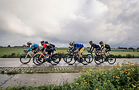 the breakaway group (with for once) including Mark Cavendish (GBR)(GBR/Bahrain-McLaren) who declared afterward that this might just have been his very last pro race ever...<br /> <br /> 82nd Gent-Wevelgem in Flanders Fields 2020 (1.UWT)<br /> 1 day race from Ieper to Wevelgem (232km)<br /> <br /> ©kramon