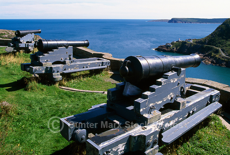 The 'Queen's Battery' at Signal Hill National Historic Site, in the City of St. John's, on the Avalon Peninsula, Newfoundland and Labrador, Canada