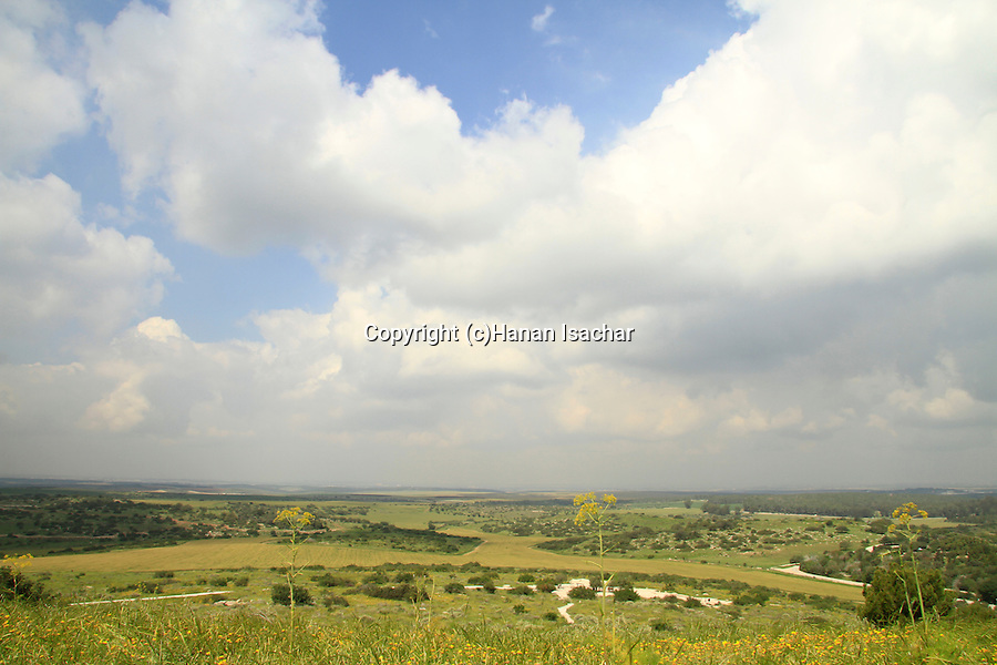 Israel, Shephelah, Beth Guvrin national park, a view from Tel Maresha
