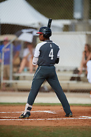Samuel Infante during the WWBA World Championship at the Roger Dean Complex on October 20, 2018 in Jupiter, Florida.  Samuel Infante is a shortstop from Hialeah, Florida who attends Monsignor Edward Pace High School and is committed to Miami.  (Mike Janes/Four Seam Images)