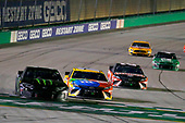 #1: Kurt Busch, Chip Ganassi Racing, Chevrolet Camaro Monster Energy and #18: Kyle Busch, Joe Gibbs Racing, Toyota Camry M&M's Toyota Camry