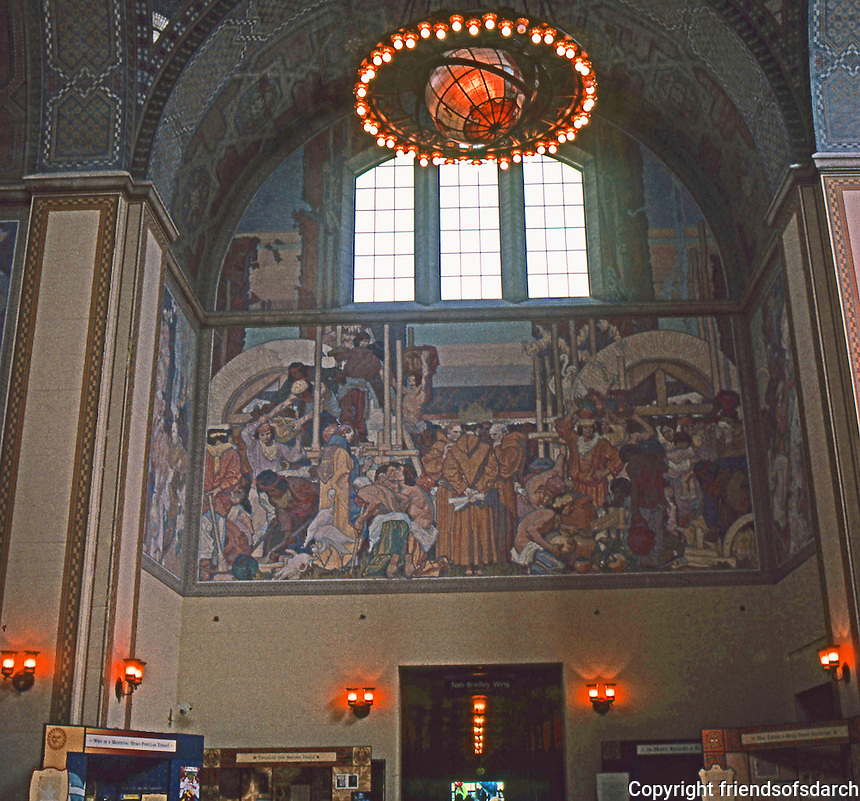 Los Angeles: L. A. Public Library. Second floor of Rotunda, up stairs from entrance.  Photo '96.