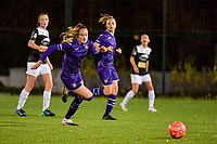 Anderlecht Tessa Wullaert (27) in action during a female soccer game between RSC Anderlecht Dames and Eendracht Aalst Ladies  on the fourth matchday of the 2020 - 2021 season of Belgian Womens Super League , Tuesday 13 th of October 2020  in ANDERLECHT , Belgium . PHOTO SPORTPIX.BE | SPP | STIJN AUDOOREN