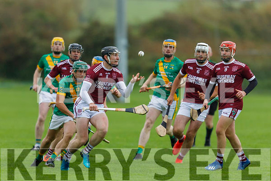 Causeway' s Bryan Murphy in possession against Kilmoyley in the North Kerry Senior Hurling Championship final