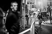 Felipe Orts Lloret (ESP) checking behind<br /> <br /> Elite Men's Race<br /> Superprestige Diegem / Belgium 2017