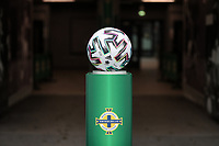 BELFAST, NORTHERN IRELAND - MARCH 28: Match ball before a game between Northern Ireland and USMNT at Windsor Park on March 28, 2021 in Belfast, Northern Ireland.