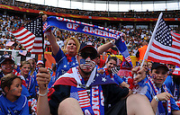 Fans of team USA during the FIFA Women's World Cup at the FIFA Stadium in Berlin, Germany on June 26th, 2011.