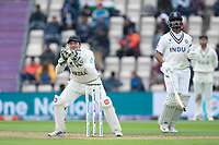BJ Watling of New Zealand collects from the outfield during India vs New Zealand, ICC World Test Championship Final Cricket at The Hampshire Bowl on 19th June 2021