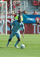 August 18, 2012: Sporting KC midfielder Julio Cesar #55 in action during an MLS game between Toronto FC and Sporting Kansas City at BMO Field in Toronto, Ontario Canada..Sporting Kansas City won 1-0.