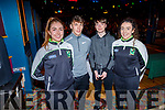 Desmonds GAA player Ethan Reidy received a presentation from the club, standing with Eilis Lynch, David Clifford and Ashling O'Connell at the Castleisland Desmonds LGFA/GAA Awards Night in the River Island Hotel on Sunday