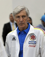 BARRANQUILLA - COLOMBIA -28-03-2016: Jose Pekerman técnico  de la Selección Colombia durante rueda de prensa en Barranquilla. Colombia se prepara para el próximo partido contra Ecuador para la calificificacion a la Copa Mundo FIFA Rusia 2018. / Jose Pekerman coach of Colombia Team speaks during a press conference in Barranquilla. The Colombia Team preparing for the next game against Ecuador for the qualifier to 2018 FIFA World Cup Russia. (Photo: VizzorImage / Luis Ramirez / Staff.)