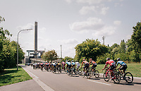 peloton passing 1 of the architectural wonders of Belgium: the (50 yr old / giant) boat-lift of Ronquières<br /> <br /> 98th Brussels Cycling Classic 2018<br /> One Day Race:  Brussels > Brussels (201km)