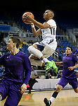 Canyon Springs' Gerad Davis shoots in a Division I semi-final game in the NIAA basketball state tournament at Lawlor Events Center, in Reno, Nev., on Thursday, Feb. 27, 2014. Canyon Springs defeated Spanish Springs 66-51. (Cathleen Allison/Las Vegas Review-Journal)