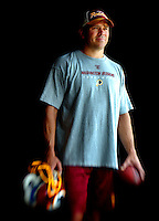 Portrait of NFL quarterback Mark Brunell on August 21, 2005 when he played for the Washington Redskins.