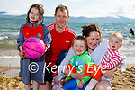 The Poff family from Blennerville enjoying the beach in Fenit on Sunday, l to r: Anna, Liam, George, Sharon and Kelly Poff.