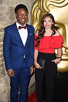 Alhaji Fofana and Savannah Baker<br /> arriving for the BAFTA Childrens Awards 2017 at the Roundhouse, Camden, London<br /> <br /> <br /> ©Ash Knotek  D3353  26/11/2017