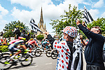 The start of Stage 4 of the 2021 Tour de France, running 150.4km from Redon to Fougeres, France. 29th June 2021.  <br /> Picture: A.S.O./Charly Lopez   Cyclefile<br /> <br /> All photos usage must carry mandatory copyright credit (© Cyclefile   A.S.O./Charly Lopez)