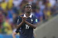 Paul Pogba of France looks dejected