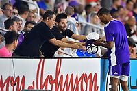 Orlando, FL - Wednesday July 31, 2019:  Fans, Nani #17 during the Major League Soccer (MLS) All-Star match between the MLS All-Stars and Atletico Madrid at Exploria Stadium.