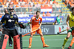 The Hague, Netherlands, June 15: Jelle Galema #20 of The Netherlands looks on during the field hockey gold match (Men) between Australia and The Netherlands on June 15, 2014 during the World Cup 2014 at Kyocera Stadium in The Hague, Netherlands. Final score 6-1 (2-1)  (Photo by Dirk Markgraf / www.265-images.com) *** Local caption ***