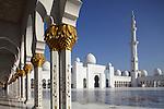 Sheikh Zayed Mosque, Abu Dhabi. United Arab Emirates