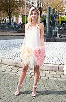 October 3 2017, PARIS FRANCE the Miu Miu<br /> Show at the Paris Fashion Week Spring Summer 2017/2018. Lala Rudge arrives at the show.
