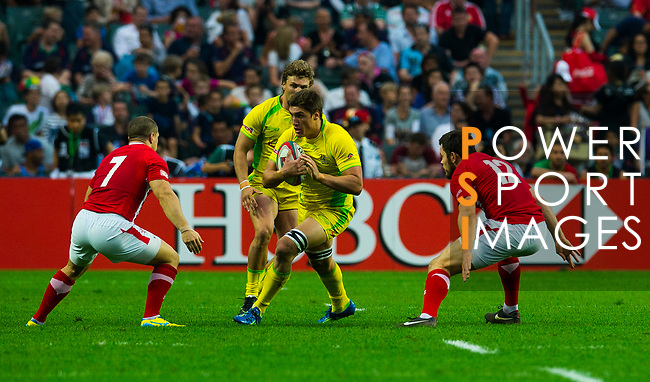 Wales play Australia on Day 1 of the Cathay Pacific / HSBC Hong Kong Sevens 2013 at Hong Kong Stadium, Hong Kong. Photo by Aitor Alcalde / The Power of Sport Images