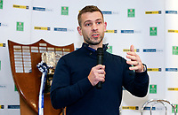 Monday 27th January 2020 | Ulster Schools' Cup Draw<br /> <br /> Paul Marshall hosting the draw for the Ulster Schools' Cup Quarter Finals held at Kingspan Stadium, Ravenhill Park, Belfast, Northern Ireland. Fixtures to be played on or before 8 Feb 2020.  Photo credit - John Dickson DICKSONDIGITAL