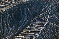 aerial photograph of slopes around the volcanic fields at the Ubehebe Crater,  Death Valley National Park, northern Mojave Desert, California