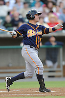 Montgomery Biscuits Stephen Vogt #18 swings at a pitch during a game against  the Tennessee Smokies at Smokies Park in Kodak,  Tennessee;  April 13, 2011.  Tennessee defeated Montgomery 12-2.  Photo By Tony Farlow/Four Seam Images