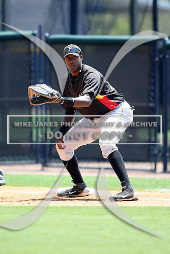 March 31, 2010:  First baseman Calvin Anderson of the Pittsburgh Pirates organization during Spring Training at the Yankees Training Complex in Tampa, FL.  Photo By Mike Janes/Four Seam Images