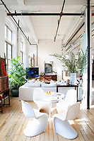 White panton chairs