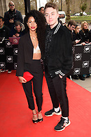 Vick Hope and Roman Kemp<br /> arriving for TRIC Awards 2018 at the Grosvenor House Hotel, London<br /> <br /> ©Ash Knotek  D3388  13/03/2018