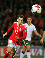 Tom Lawrence of Wales in action during the FIFA World Cup Qualifier Group D match between Wales and Republic of Ireland at The Cardiff City Stadium, Wales, UK. Monday 09 October 2017