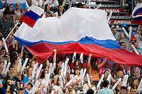 supporter Russia<br /> 4x100 medley men<br /> Swimming Nuoto Kazan Arena<br /> Day17 09/08/2015  FINALS<br /> XVI FINA World Championships Aquatics <br /> Kazan Tatarstan RUS July 24 - Aug. 9 2015 <br /> Photo G.Scala/Deepbluemedia/Insidefoto