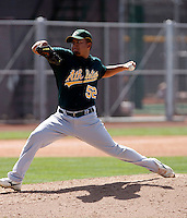 Carlos Hernandez - Oakland Athletics - 2009 spring training.Photo by:  Bill Mitchell/Four Seam Images